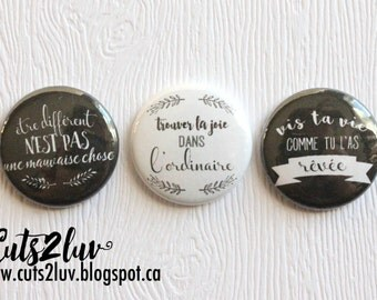 """3 buttons 1 """"live your life"""