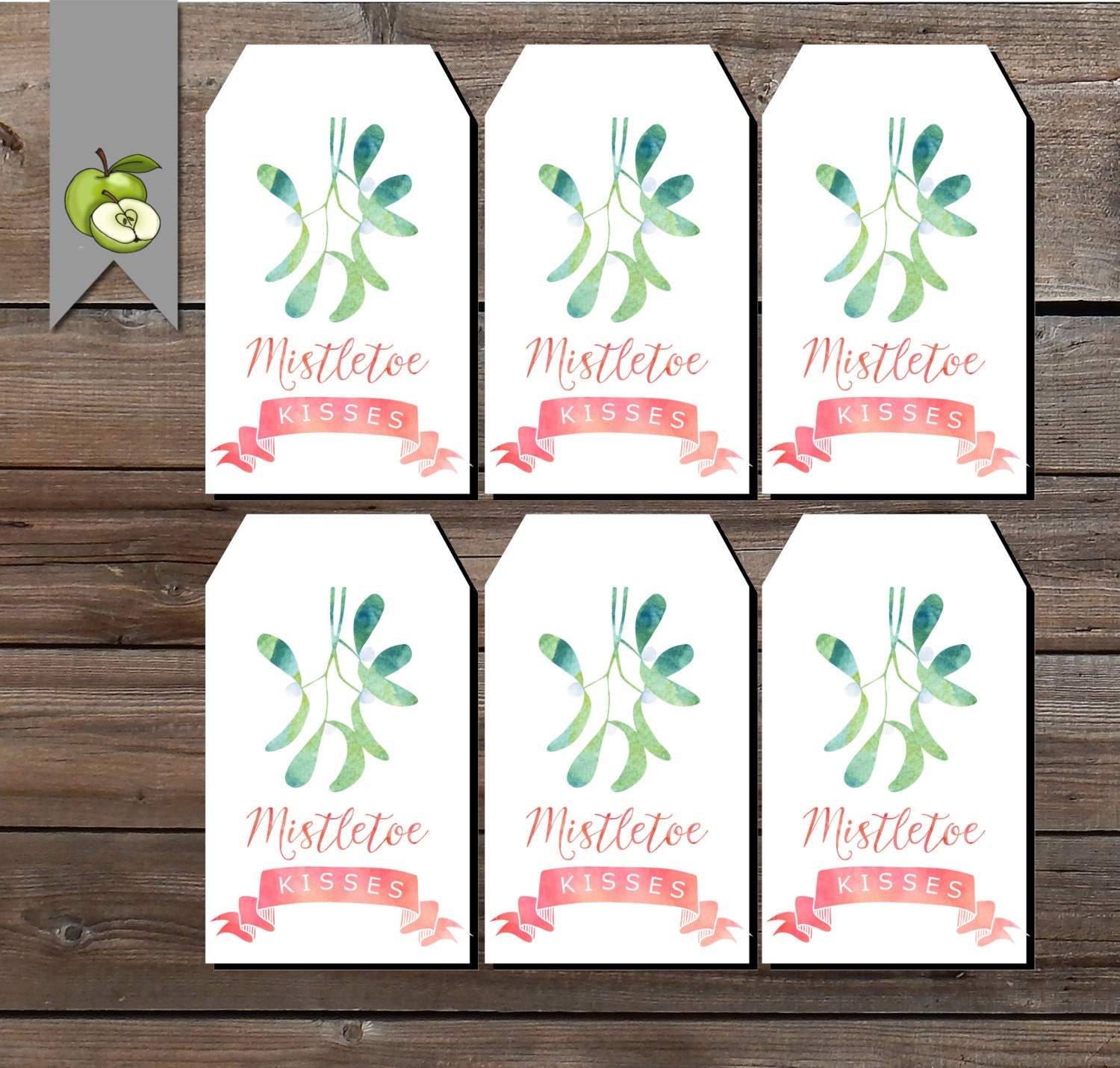 christmas tags mistletoe Teacher t tag christmas hamper