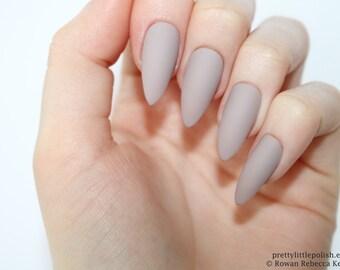 Stiletto nails, Matte mocha stiletto nails, Fake nails, Press on nails, False nails, Stiletto false nails, Press on stiletto nails
