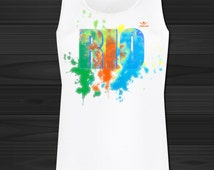 Women's Sports Gym Vest Tank Gym Top  GRAPHIC PRINT colorful abstraction  Rio Olympics