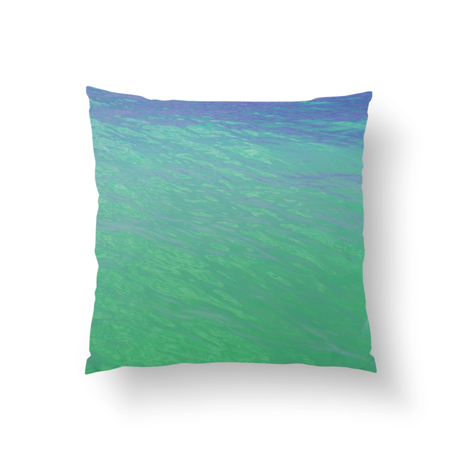 Mermaid Waters Throw Pillow Cover Sea Foam Green by ...