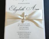 Custom Listing for jenniferlynnkramer1 - 65 Ivory Embellished Luxury Baptism Invitations