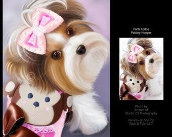 Pet Custom Portrait on Fine Art Paper (up to 3 pets)
