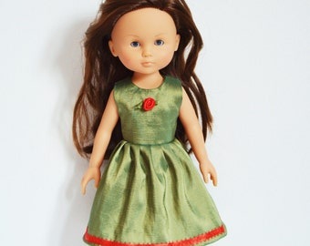 """Corolle Les Cheries Doll Clothes - Handmade Dress fits 13"""" Dolls Handcraft 15"""