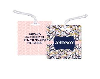 Luggage Bag Tag, Bag Tag,Family Luggage Tag,  Luggage Tag,  Luggage Bag Tag, Chevron Bag Tag, Wedding  Bag Tag, Personalized Bag Tag, RyElle