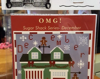 DECEMBER Gingerbread Getaway - Cross Stitch Chart OMG #32 Counted Confections