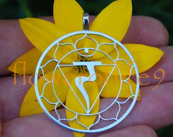 3rd Chakra pendant (1 3/8 inch) - Stainless Steel