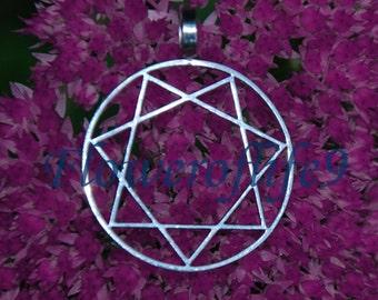 Septagram pendant (Star of Babalon) (1 inch) - Stainless Steel