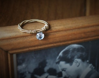 Guitar String Ring - Captivated