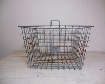 Vintage Locker Basket - Gym Basket - Industrial