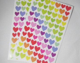 2 Sheets of Heart Stickers - 168 Hearts ST6017PS