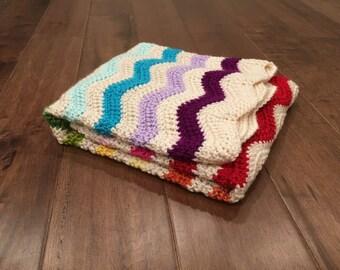 rainbow baby blanket, rainbow baby, baby blanket crochet, crochet baby blanket, chevron baby blanket