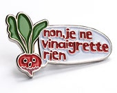 enamel pin radish pin badge soft enamel brooch