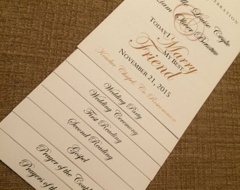 9 Page - WE Personalize YOU Print Wedding Program - Choose Your Design