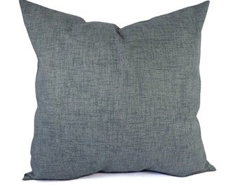 Two Pillow Covers - Grey Throw Pillows - Solid Pillow Cover - Blue Grey Pillow Sham - Pillow Cover 16 x 16 inch 18 x 18 inch 20 x 20 Lumbar