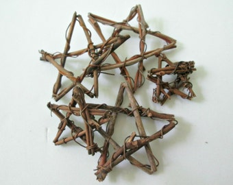 5 miniature vine stars, grapevine stars, DIY decor, DIY Wedding decor, stars for crafting