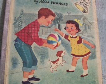"""Vintage 1954 Hardcover Edition - """"My Big Brother"""" By Miss Frances - """"Salvage Copy"""""""