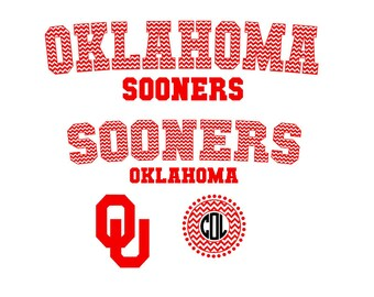 Oklahoma Sooners Jersey Set SVG Silhouette Studio PNG Eps Pdf cutting files