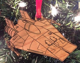 Star Wars A-Wing Fighter Wooden Ornament