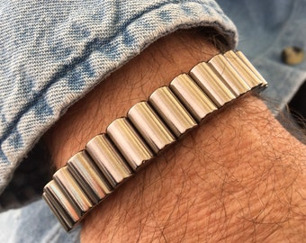 Super~strength Neodymium Rare Earth Link Bracelet in Slate Grey ~