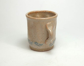 Stoneware Pottery Mead Wine Tasting Cup Teacup