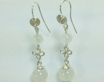 Moonstone earrings 'luna'
