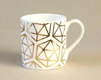 Geometric Icos Fine Bone China Mug