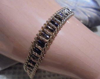 Sale--14 KT Gold Vermeil Crystal link Bracelet  marked P D