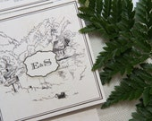 SAMPLE PACK Personalised Hand Drawn Venue Sketch Wedding Invitations - Perfect Place