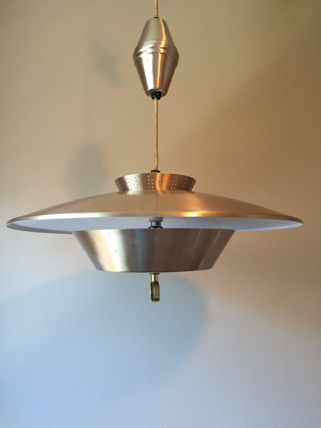 Retro Mid Century Modern Retractable Light Fixture Pendant