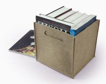 20% OFF!Large Felt Box Storage Box Felt Box Storage Basket Square Box Burgundy Storage Bin Custom Made E1351