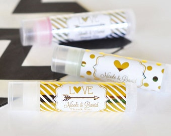 Custom Lip Balm for your Party, Shower, Wedding, Natural Lip Balm, Personalized Lip Balm Tube , Personalized Party Favor, Custom Shower Gift