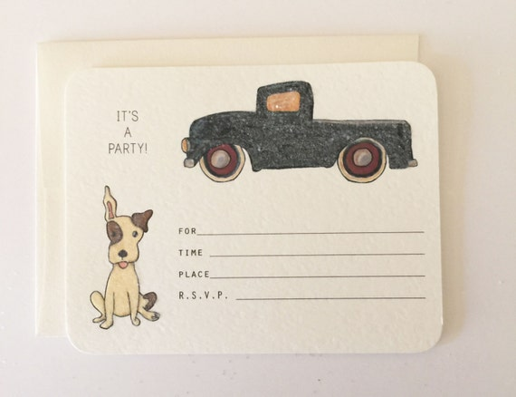 Old Farm Truck fill-in Invitations