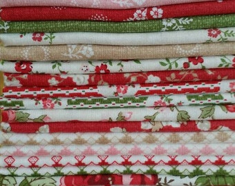 Red Rooster Fat Quarter Bundle With All My Heart Entire Collection Sale!
