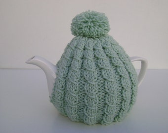 Classy Vintage-style Tea Cozy in Mint Green. Ready to Ship.