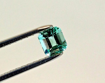 5.5mm Square Cut Natural Colombian Emerald Loose Gemstone