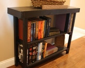 ON SALE Unique Primtiques SOFA Console Entry Mud Room Hall Accent Table Book Shelf Kettle Black Painted Bookcase 10x40x30h Custom Sizes Colo