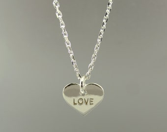 """Necklace 925 Silver Heart """"Love"""""""
