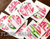 FLASH SALE Lilly One Inch Decals/ Phone Charger Decals/ Monogram Decals