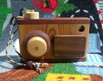 Wooden Toy Camera, handmade wooden toy camera, pretend play, organic wooden toy, all natural toys