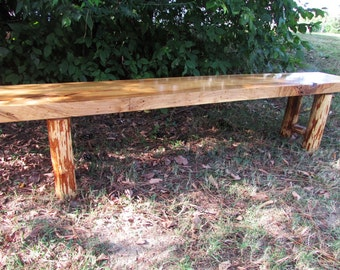 Reclaimed Wood Bench, Maple Wood Bench, Spalted Maple Bench, Fine Furniture, Live Edge, Live Edge Furniture,