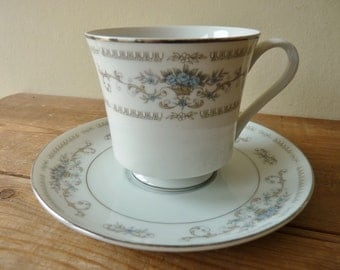Diane fine porcelain china Japan cup and saucer