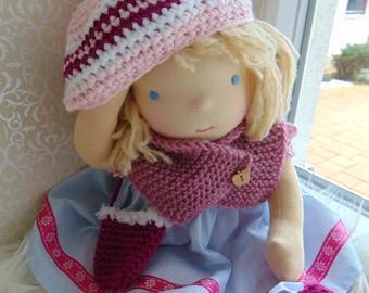 """Waldorf doll, 16"""" tall doll steiner doll, organic doll,fabric doll, cloth doll, handmade"""