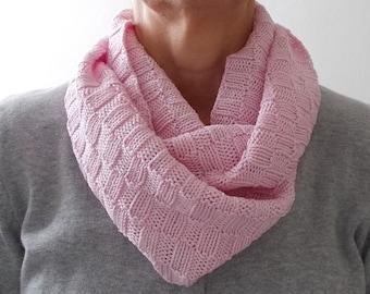 Knitting Scarf Endless Scarf Pattern Knit Scarf Pink