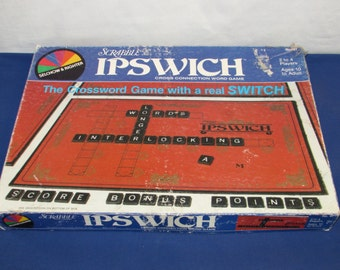 IPSWICH CROSSWORD GAME 1983 Selchow and Righter Scrabble Type Game
