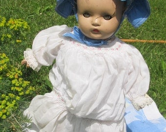 Composition Doll with soft cloth body; 1940's doll