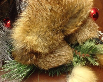 Red Fox Aviator Style Hat