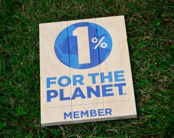 1% for the Planet Member Wood Print