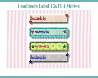 Embroidery file 13 x 18 handmade label patches