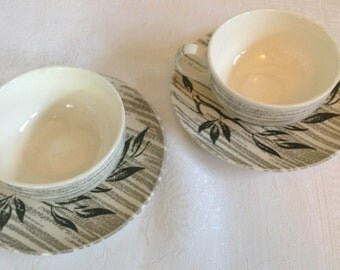 Royal China Cups & Saucers - Set of 2